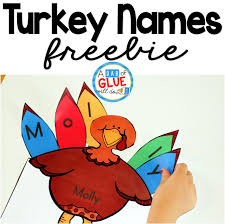 turkey names a dab of glue will do