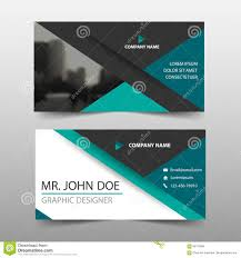 green triangle corporate business card name card template