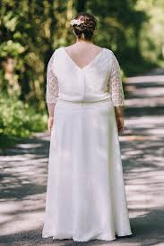 robe mari e grande taille doriane robe de mariée grande taille buste blousant en dentelle