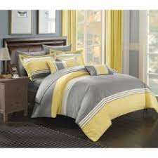 sunshine yellow grey comforter set embroidery bed in a bag king
