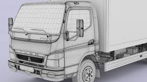 truck mitsubishi fuso 3d mitsubishi fuso canter hard body cgtrader