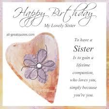 free sister birthday cards best 25 birthday greetings to sister
