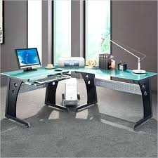 Z Line Belaire Glass L Shaped Computer Desk Z Line Belaire Glass L Shaped Computer Desk Image Of Industrial