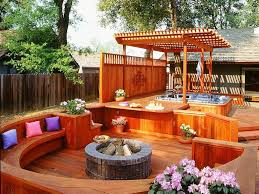 backyard tub privacy ideas home outdoor decoration