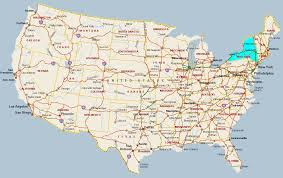Us Maps With States New York State Maps Usa Of Ny Clickable Map With States World Maps