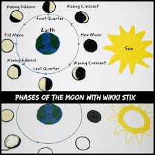 phases of the moon learning craft for kids wikki stix