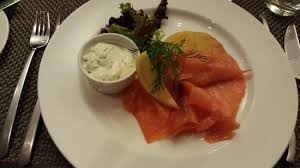creme fraiche cuisine loch fyne scottish smoked salmon served with potato rosti and a