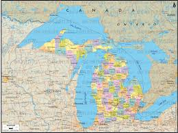 Political Map Of Canada Map Of Canada And Michigan Michigan Map