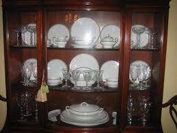 how to arrange a china cabinet pictures how to display crystal glassware and china home furniture