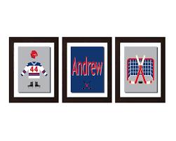 hockey decor sport nursery personalized name sports art zoom