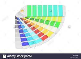 palette pantone pantone color palette guide 3d rendering isolated on white stock