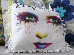 Knot Pillows by How To Make A No Sew Pillow From An Upcycled T Shirt How Tos Diy