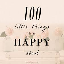 100 things to be happy about du jour