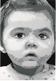 tableau portrait noir et blanc peinture pop art adolphe barboni
