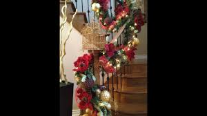 how to decorate a christmas staircase red and gold christmas