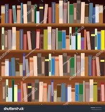 set bookshelves vector flat illustration books stock vector