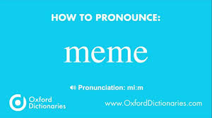 Pronounce Meme - how to pronounce meme youtube
