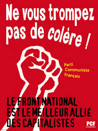 si e du parti communiste fran is parti communiste français affiche anti fn there is such a