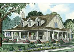 farmhouse with wrap around porch casalone ridge ranch home plan 055d 0196 house plans and more