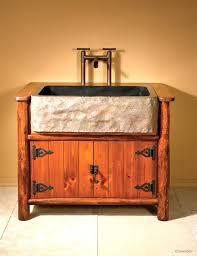 American Craftsman 60 American Craftsman Double Vessel Sink Vanity Rustic Oak