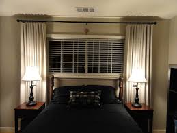 window treatment ideas for master bedroom bed under w blinds and curtains all that would be needed was