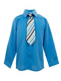 spring notion boys dress shirt and tie set sky blue