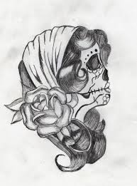 pin up sugar skull tattoodenenasvalencia