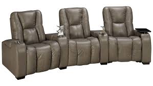 home theater recliner palliser media palliser media 3 piece leather power sectional with