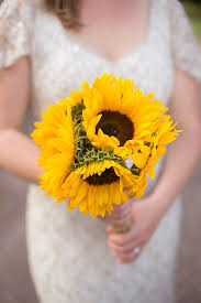 Sunflower Wedding Bouquet Sunflower Chateau Wedding In Normandy French Wedding Style