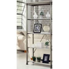 home styles five shelf 38 in w x 76 in h x 16 in d marble and