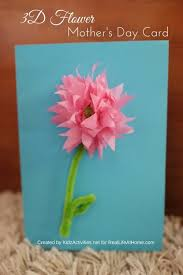 day card 3d flower s day card craft step by step tutorial