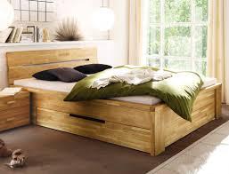 Schlafzimmer Bett Mit Matratze Massivholzbett Caspar 180x200 Wildeiche Geölt Stauraumbett