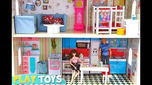 Dolls House Kitchen Furniture Barbie Huge Doll House Play Baby Dolls House Furniture Barbie