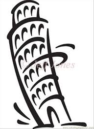italy tower pisa coloring free italy coloring pages