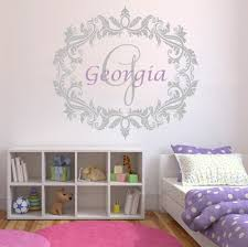 personalised name wall stickers for kids home design
