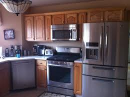 kitchen oak wooden kitchen cabinet design ideas with stainless