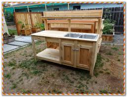 Outdoor Potters Bench Outdoor Potting Bench With Sink Plans Sinks And Faucets Home