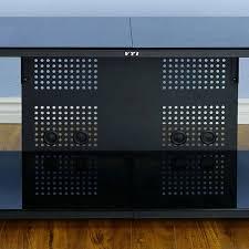 low profile av cabinet vti 20800 series 75 tv stand av rack black frame black glass 20844