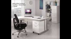 White Home Office Desks White Office Furniture Momento White Office Furniture From