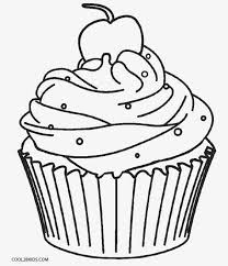 drawn cupcake colouring page pencil and in color drawn cupcake