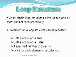 visual basic for loop vb net loop structure