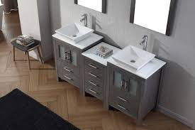 46 inch vanity cabinet virtu usa dior 66 double bathroom vanity set in zebra grey