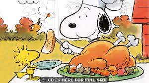 snoopy thanksgiving 4k wallpaper