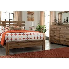 Ashley Bedroom Set With Leather Headboard Contemporary Queen Panel Bed With Wide Slats On Headboard By