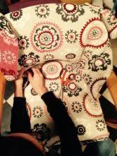 Suzani Fabric Chair French Bridge Chair With Suzani Fabric Tacks And Fabrics