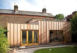 Design Home Extension Online Simplicity Timber Fin House Extension Ideas In London England
