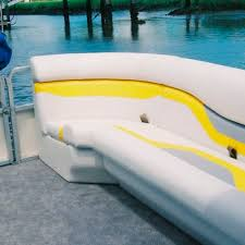 1 person bench seat for pontoon boats with storage corner
