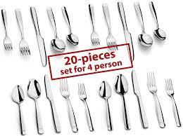Luxury Cutlery by Amazon Com Dokaworld Silverware Set 18 10 Stainless Steel