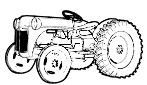 tractor coloring page farm tractor coloring page free printable
