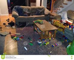 messy living room stock photo image 71817118